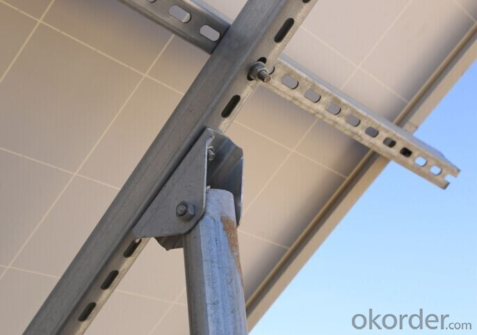 adjustable solar panel bracket with connector for flat roof solar mounting system, Factory price