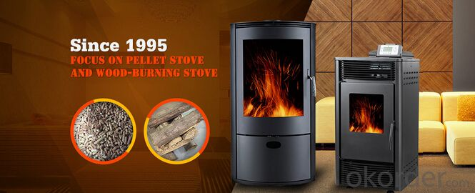 Pellet Stove Output 8KW High Temperature Resistant Paint