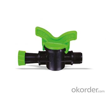 Ringed Male Mini Valve - Micro irrigation - Drip irrigation
