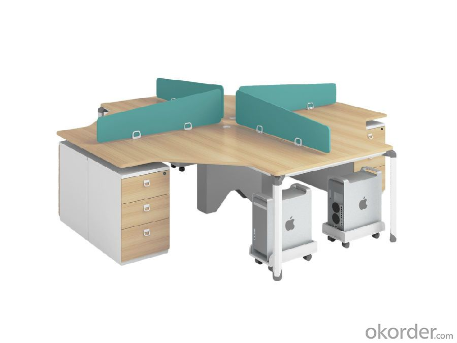 Four People Office Furniture Work Station