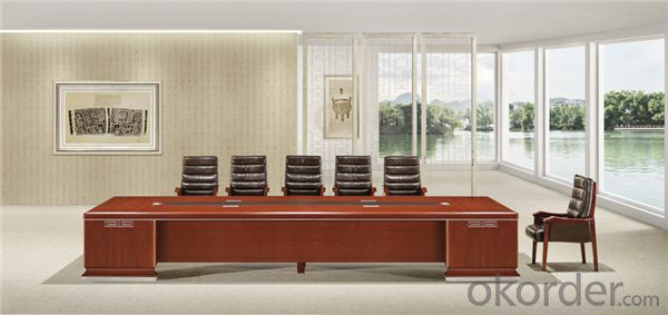 Office Conference Table with Vaneer Painting