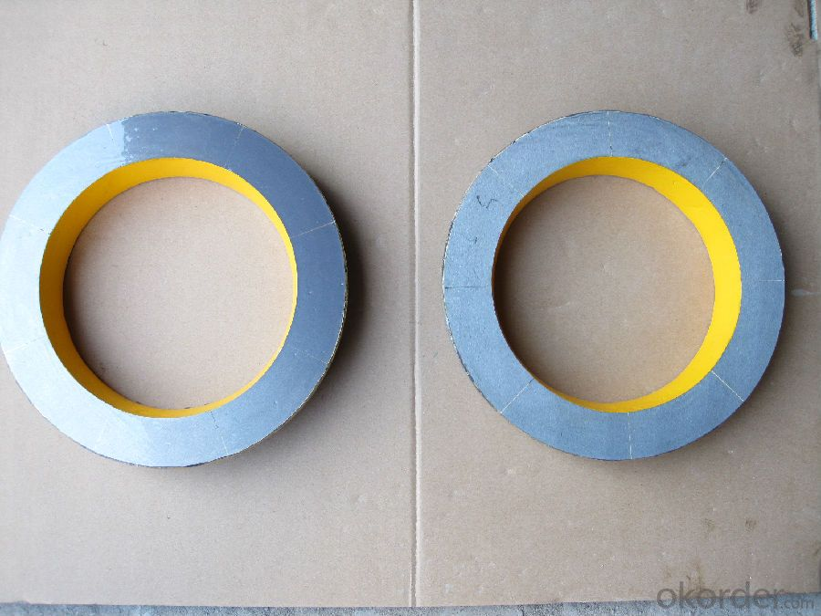 MITSUBISHI DN205 TUNGSTEN CARBIDE SPECTACLE PLATE AND WEAR RING