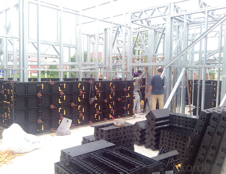 Reusable plastic PP material formwork, insulated wall panels, concrete formwork system