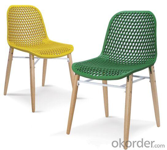 Dinning Chair Plastic & Wood & Metal Model CMAX-PP661