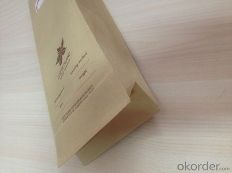 White Craft Paper Bags Laminated with LDPE Film for Food Packing