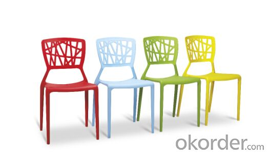Dinning Chair Plastic & Wood & Metal Model CMAX-PP823