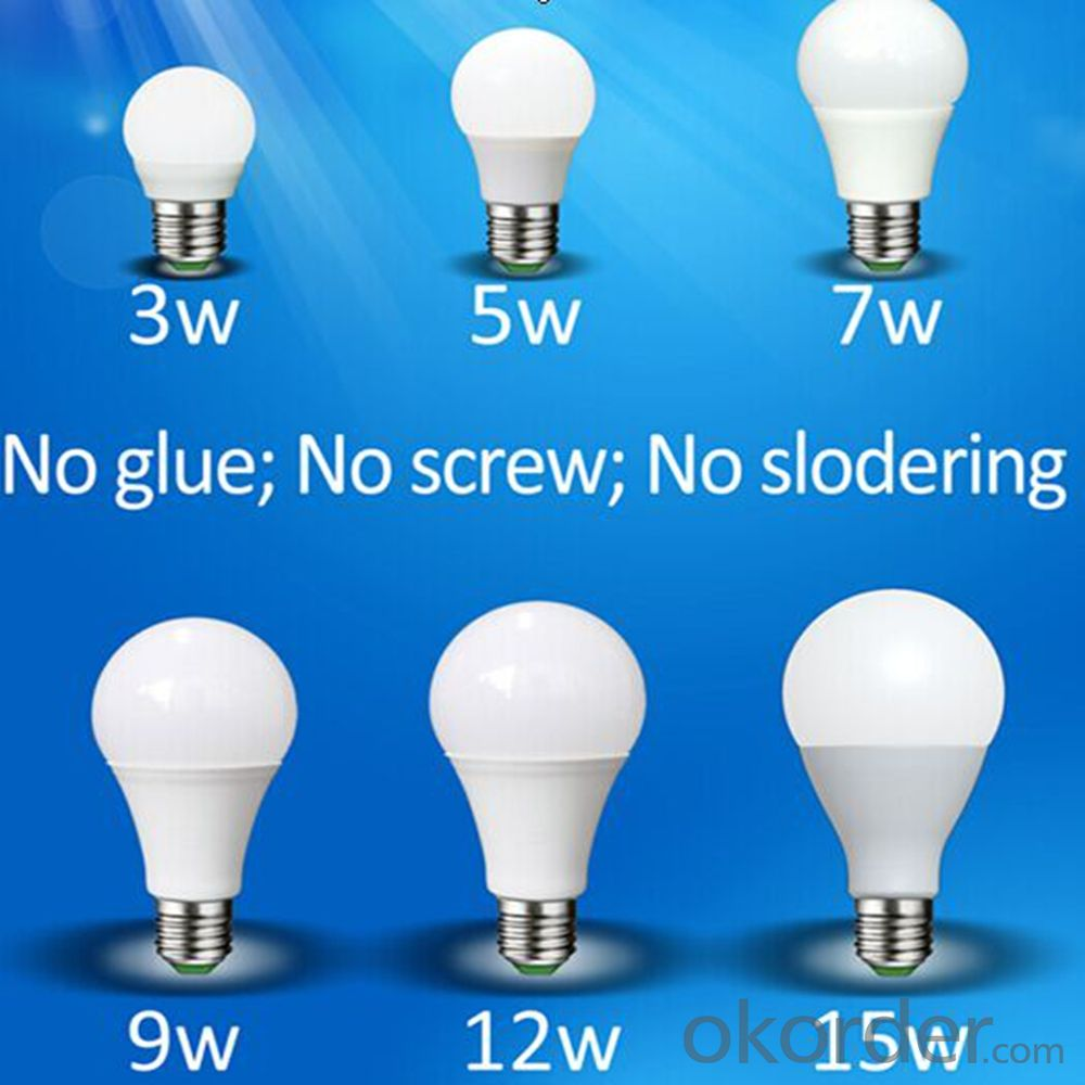 2015 Promotional wholesale 3w/5w e27/b22 bulb led light with high brightness