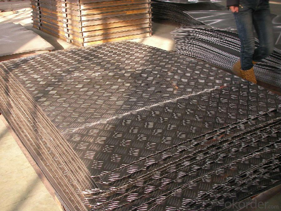 Five Bars Embossed Corrugated Aluminum Sheet