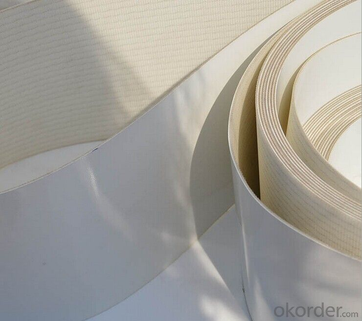 3.0mm White Food Grade Felt Surface PVC Conveyor Belt