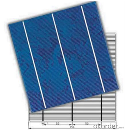 Mono Solar Cells 156X156MM2  High Efficiency Made in China