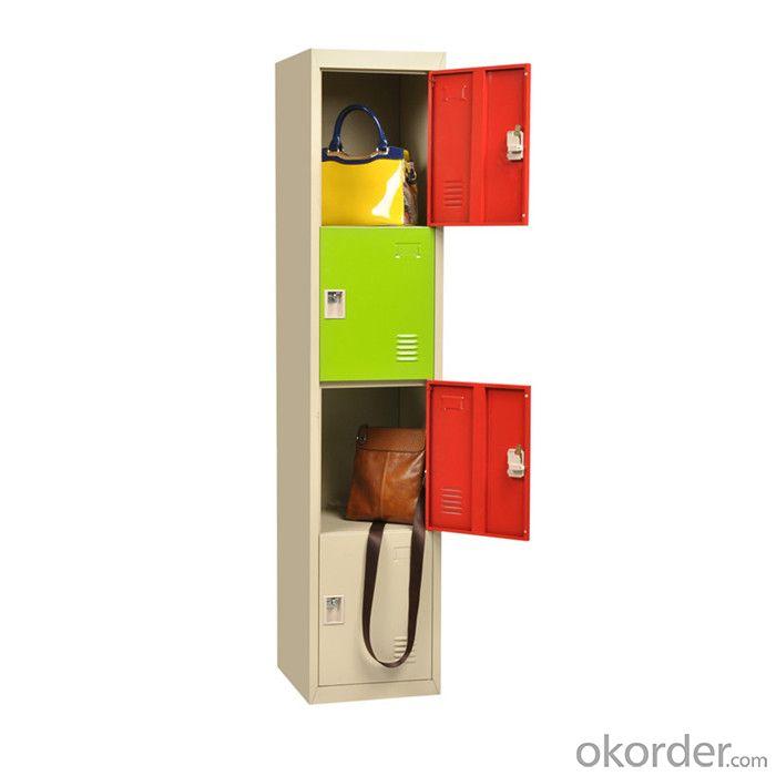 Double Door  Office Furniture School Locker Glass with Drawer