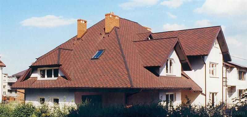 Red Synthetic Resin Roof Tile Royal Style