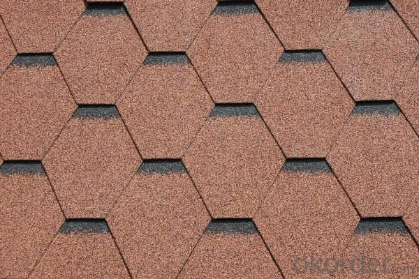 Chinese Red Round Shape Fiberglass Roofingasphalt Shingle