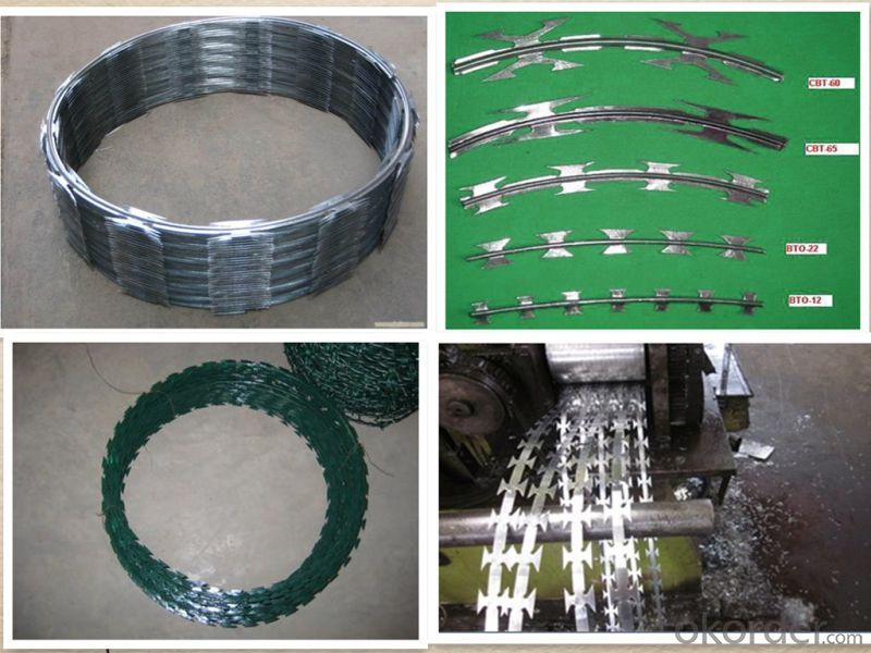 Galvanized Iron Razor Barbed Wire From Professional Factory