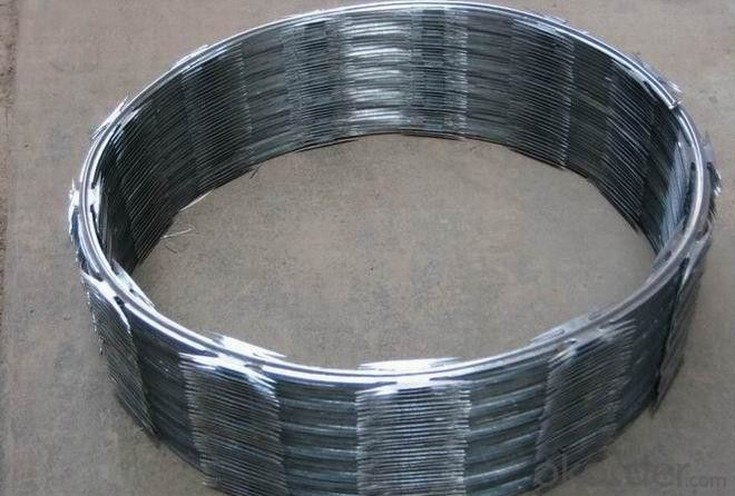 China Supplier High Quality Galvanized Razor Barbed Wire