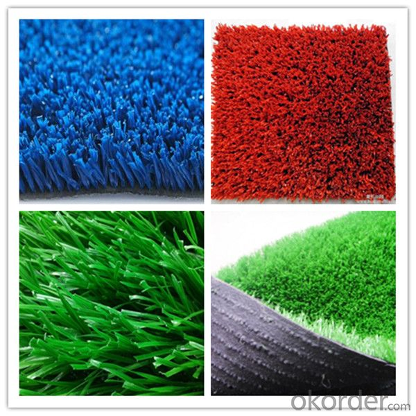 Green Landscape Garden Artificial Grass Turf with Rock Bottom Price