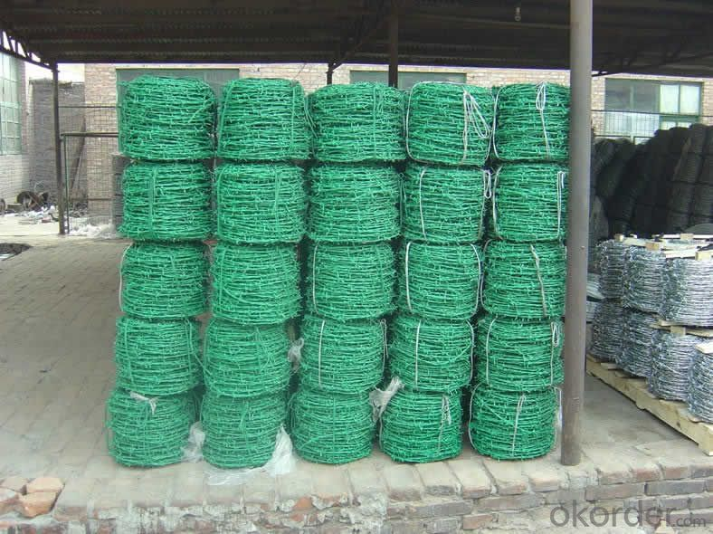 Anping Factory High Quality PVC Coated Barbed Wire with Lowerprice
