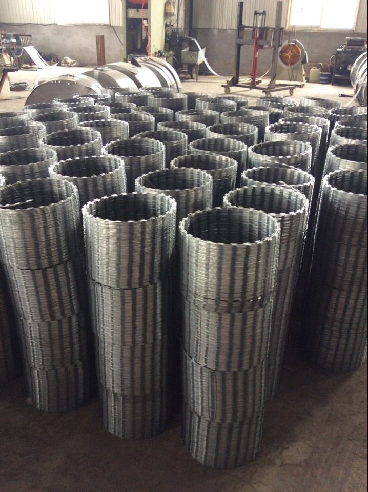 Galvanized and PVC Coated Razor Wire