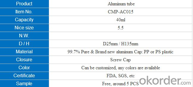 Aluminium Tube with High Quality and Competitive Price