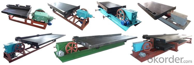 Buy 6 s series gravity shaking table table concentrator for Tinning table model