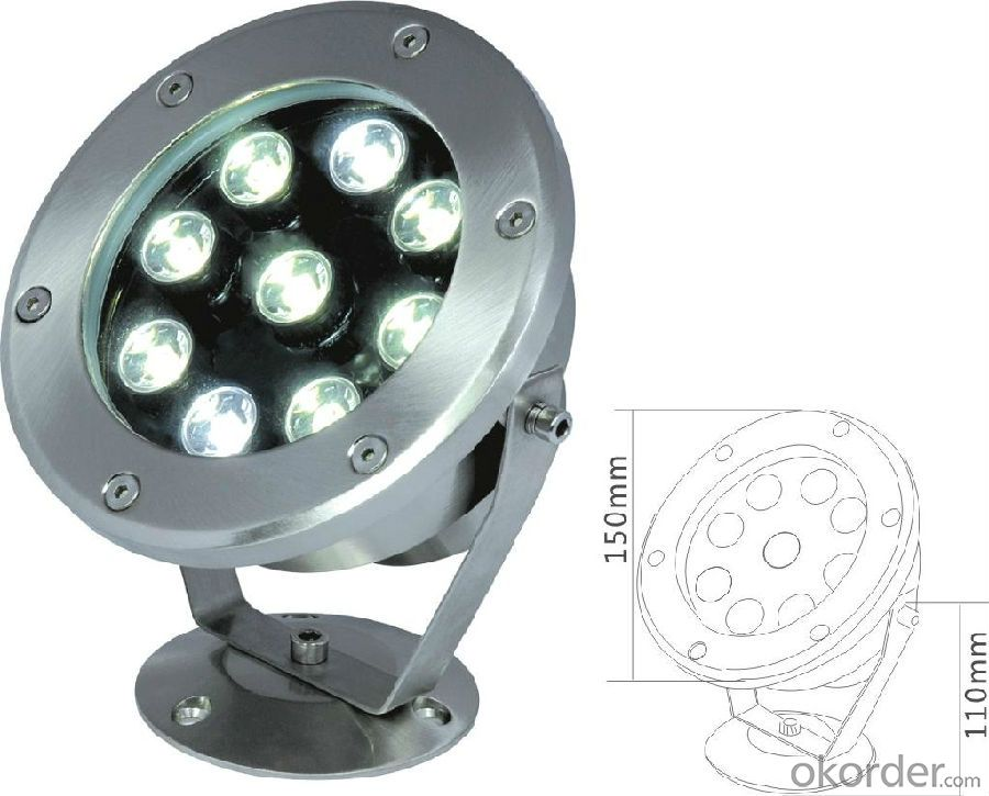IP68 316 Stainless Steel led underwater light