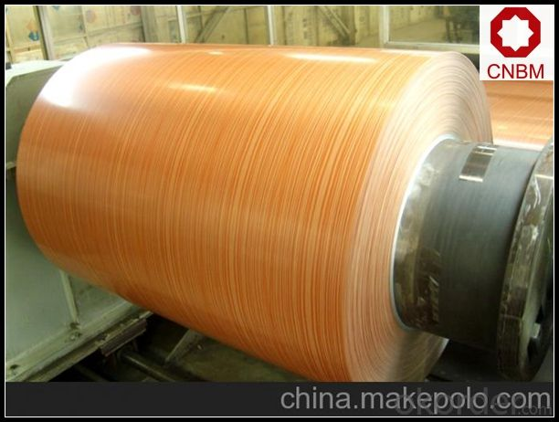 Wooden Pattern Roll Coated Aluminum Coil