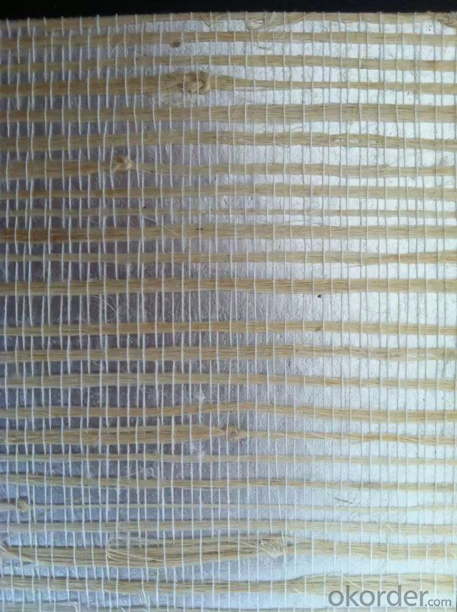 Grass Wallpaper Retro Natural Grass Cloth Stripes Coffee Shop Wallpaper Wholesale
