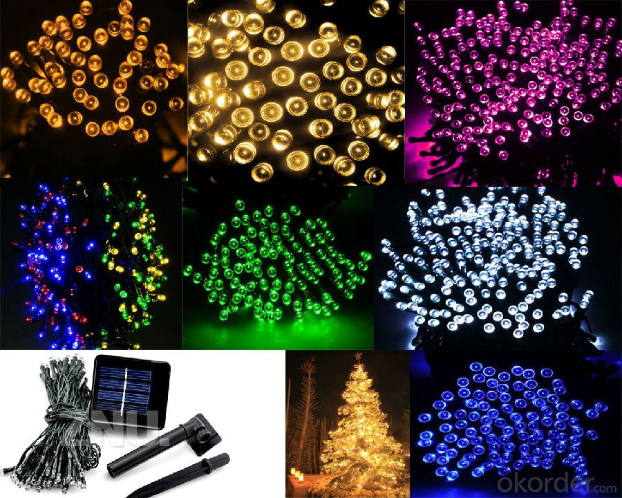 Solar LED String Lights 10M 100 Waterproof outdoor Christmans tree
