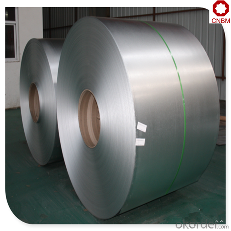 Standard steel coil sizes galvanized by hot dipped