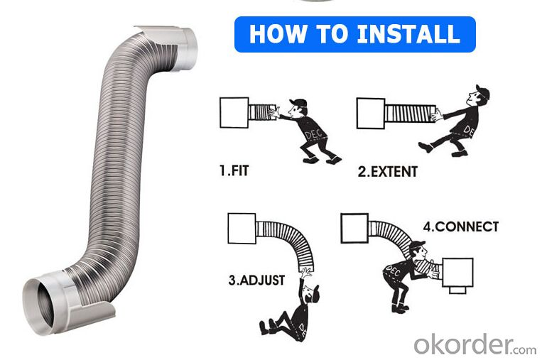 Aluminum Flexible Drain Pipe  to Air Conditioners