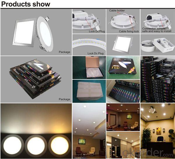 No Flicker Light Leak Unique Design--Slim Led Panel Light 15W CRI 80 PF 0.5 Recessed Mount