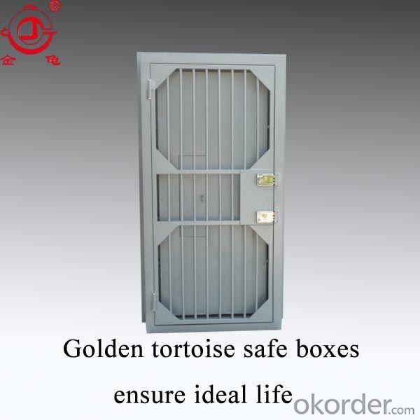 The Steel Security Door With Security Lock Bank Vault Door