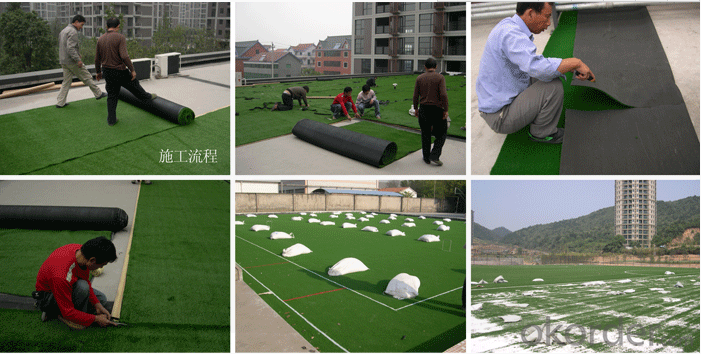 Durable Artificial Grass Sports Flooring Decorating