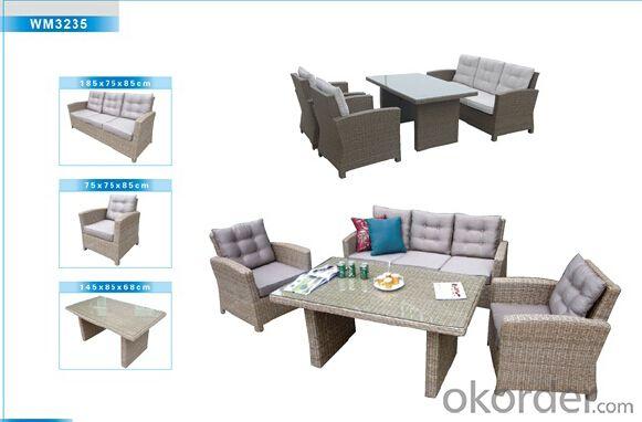 Outdoor Furniture Rattan Sofa CMAX-WM3235