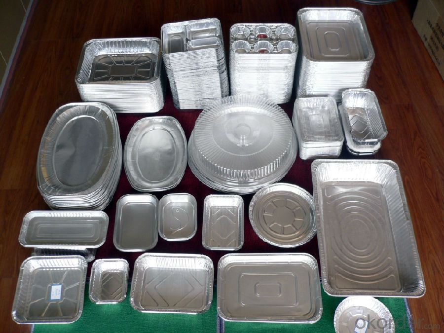 food cooking containers aluminum foil three compartment container