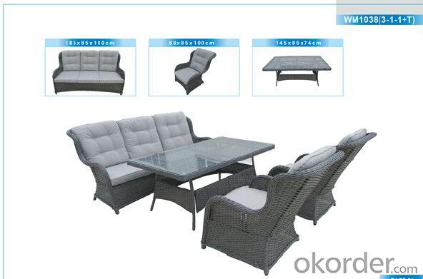 Outdoor Furniture Rattan Sofa CMAX-WM3218