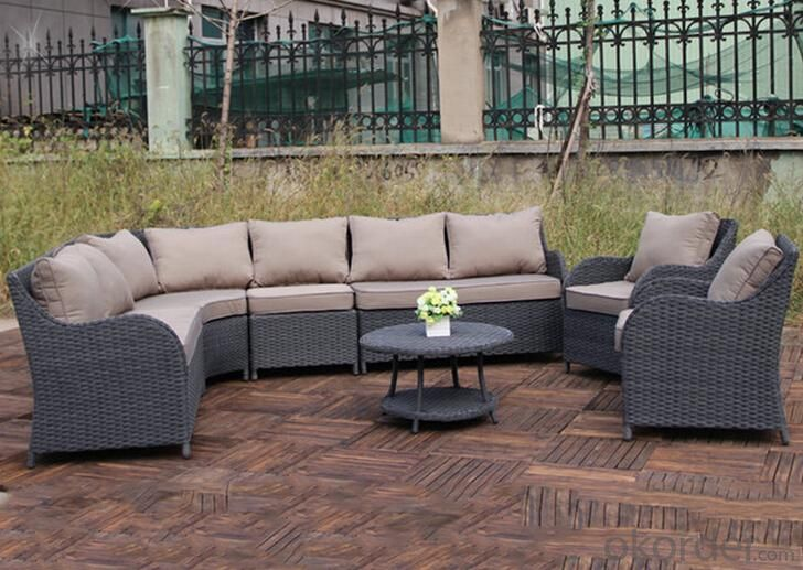 Outdoor PE Wicker/Rattan Sofa CMAX-YHA121