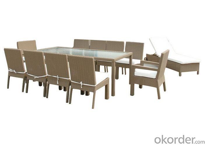 Outdoor PE Wicker/Rattan Dining Set CMAX-YHA008