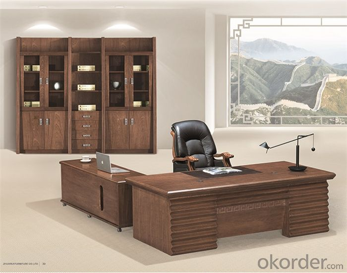 Office Executive Workstation with Veneer Painting