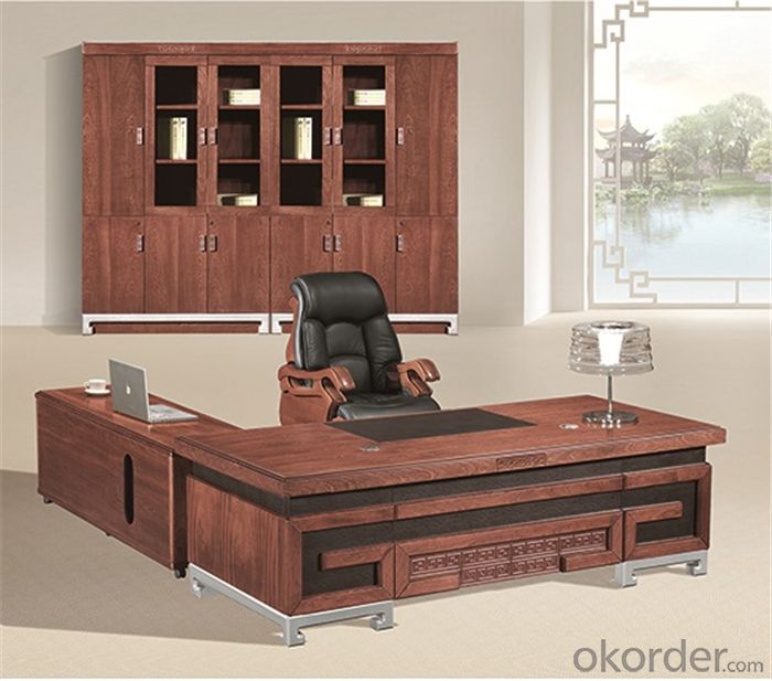 Executive Desk with Veneer Painting Face