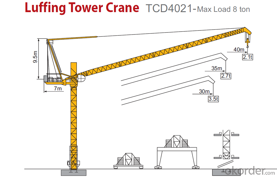 Tower Crane Requirements : Buy cmax luffing tower crane tcd construction machine
