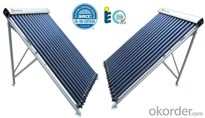 15 Tubes Solar Pipes Solar Collectors EN12975