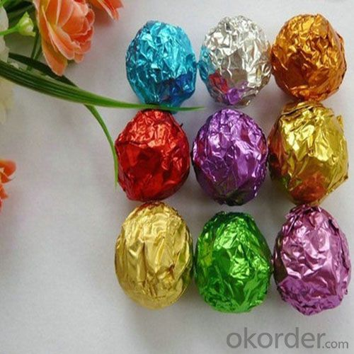8011 O Chocolate Color Foil for Chocolate / Candy Wrapping