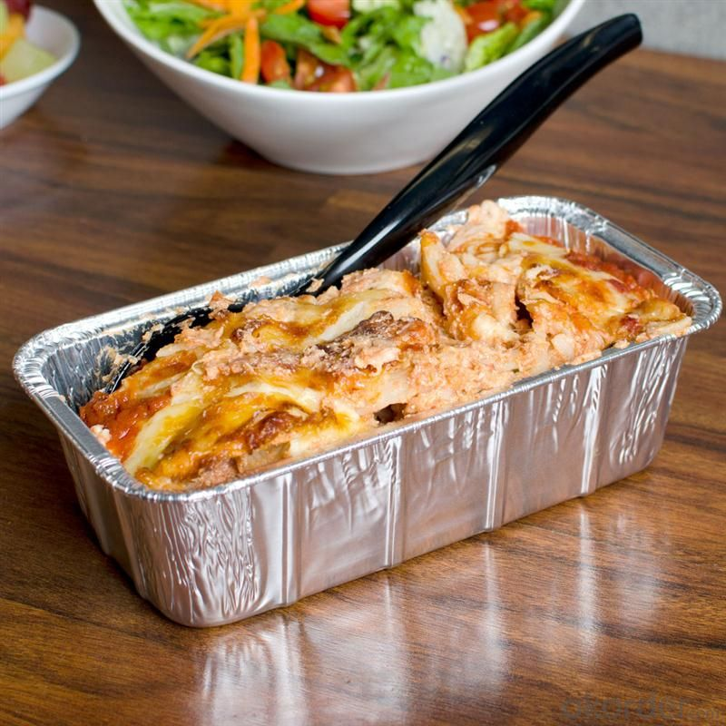 Aluminum foil take away food container with lid FOR FOOD