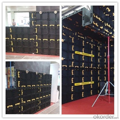 Easy Removal Plastic Formwork System - Wall Formwork