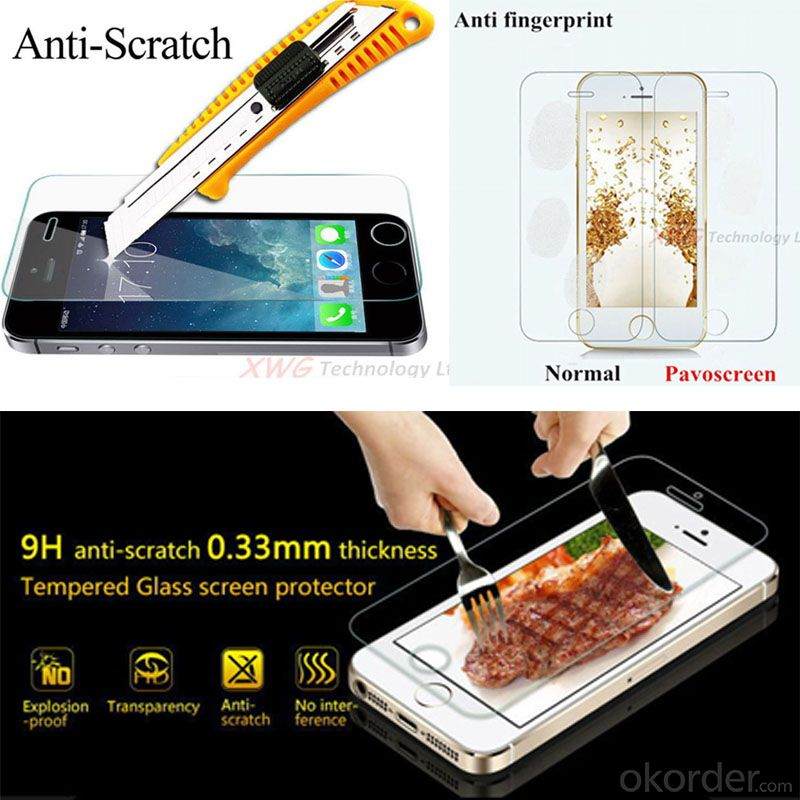 Tempered Glass Screen Protector Film for Samsung Note 3 Screen Guard