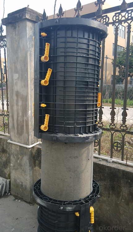 Long Using Plastic Formworks for Column-more than 100 Times