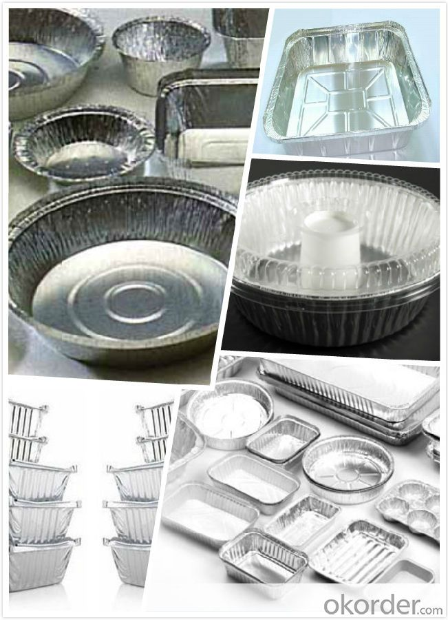Household food packaging aluminium foil aluminium container for food foil