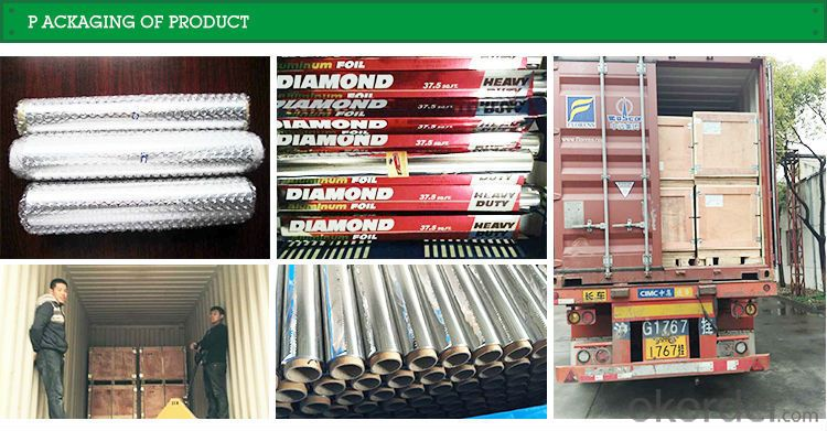 Grill Diamond Aluminium Foil , Raw Material Aluminum Foil Manufacture, Household Kitchen Food Grade Aluminum Foil