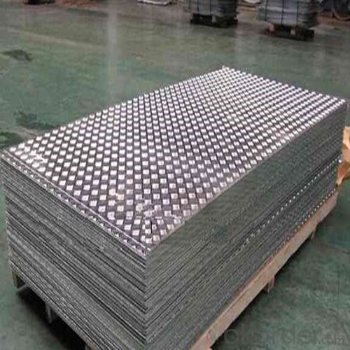 Precutted Checker Aluminium Plate for Door